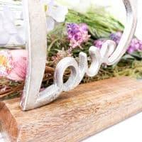Silver Love Heart Ornament